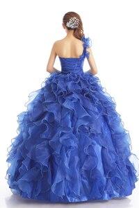 Image 2 - 저렴한 블루 컬러 Strapless 구슬 장식 웨딩 드레스 2020 한국어 여성 미술 시험 가운 부분 드레스 Vestidos 드 Novia