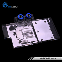 BYKSKI A-SP48OVA-X Full Cover Graphics Card Block use for Sapphire R9 RX470/480 NITRO Video Card Block RGB Controller
