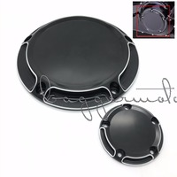 Derby Cover Timer Timing Cover For Harley Motorcycle CNC All Black CNC Beveled Styling For Road
