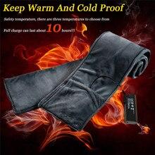 Унисекс зимний Электрический нагрев регулируемый теплый платок шейный платок Открытый платок женские шарфы хиджаб шарф 40MA08