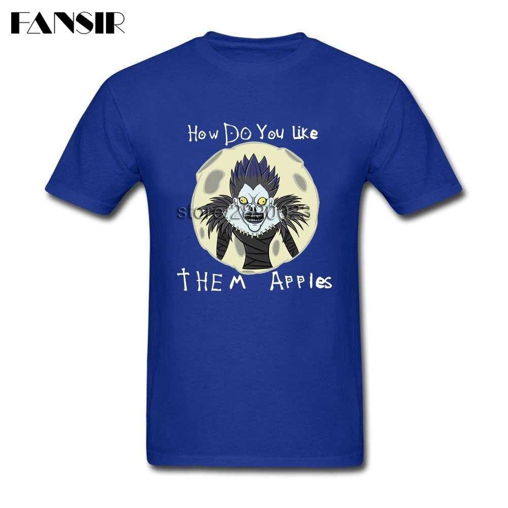Moda Death Note camiseta hombres manga corta algodón personalizado hombres camiseta Tops talla grande