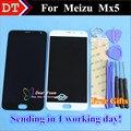"""Display lcd + assembléia tela de toque digitador para meizu mx5 celular 5.5 """"preto cor branco"""