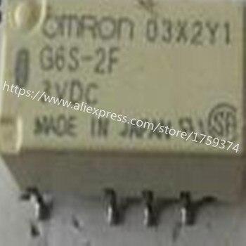 wholesale  100pcs/lot  G6S-2F-DC3V 2A  8feet  relay