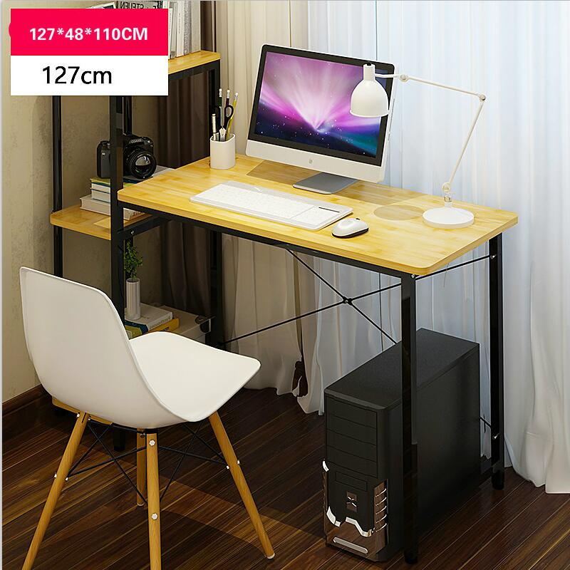 Multifunction simple desktop home computer desk with bookcase office desk children writing learning desk simple desktop computer desk office desk student writing small desk studying table high quality learning desk home furniture