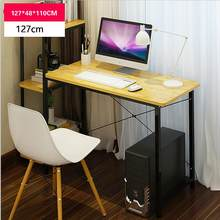 Multifunction simple desktop home computer desk with bookcase office desk children writing learning desk(China)