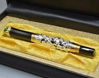 JINHAO Gold Silver Dragon Sculpture Barrel Roller Ball Pen School Office Stationery Luxury Brand Birthday Gift