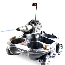 Army Amphibious RC Tank Toys Electronic Remote Control Vehicle for Children Gifts Air Water Spraying Shoot Target