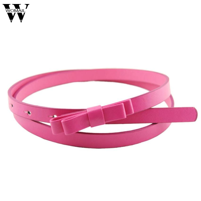 Amazing New Fashion Candy Color Women PU Leather Casual Thin   Belt   Cummerbund For Gril Women One Size   belt   for dress