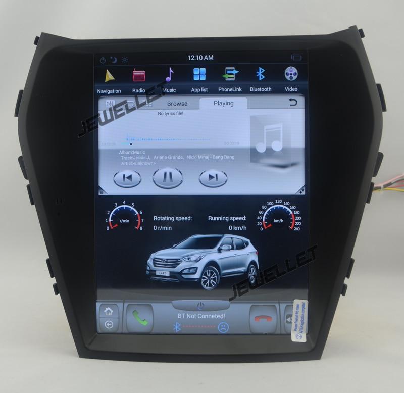 10.4 tesla style vertical screen android 6.0 Quad core Car GPS radio Navigation for Hyundai ix45 Santa fe 2013 2017
