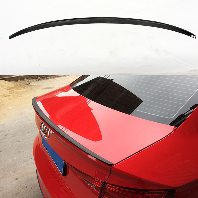 A3 S3 Style Carbon Fiber Car Body kit Rear Trunk lip spoiler Wing  for Audi A3 Sedan 2014-2016 car accessories carbon fiber rear wing trunk lip spoiler for audi a5 s5 sedan 4doors 2009 2010 2011 2012 2013 2014 2015 2016