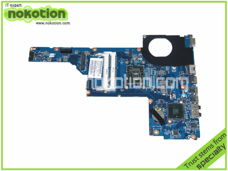 NOKOTION 653087-001 Laptop motherboard for HP Pavilion G6-1000 SERIES CORE i3-370M HM55 Mainboard full tested 639521 001 g6 g6 1000 connect with printer motherboard full test lap connect board
