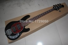 Free Shipping Hot Selling Ernie Ball Musicman Music Man Sting Ray 5 Strings 9V Active Pickup Black Electric Bass Guitar 510