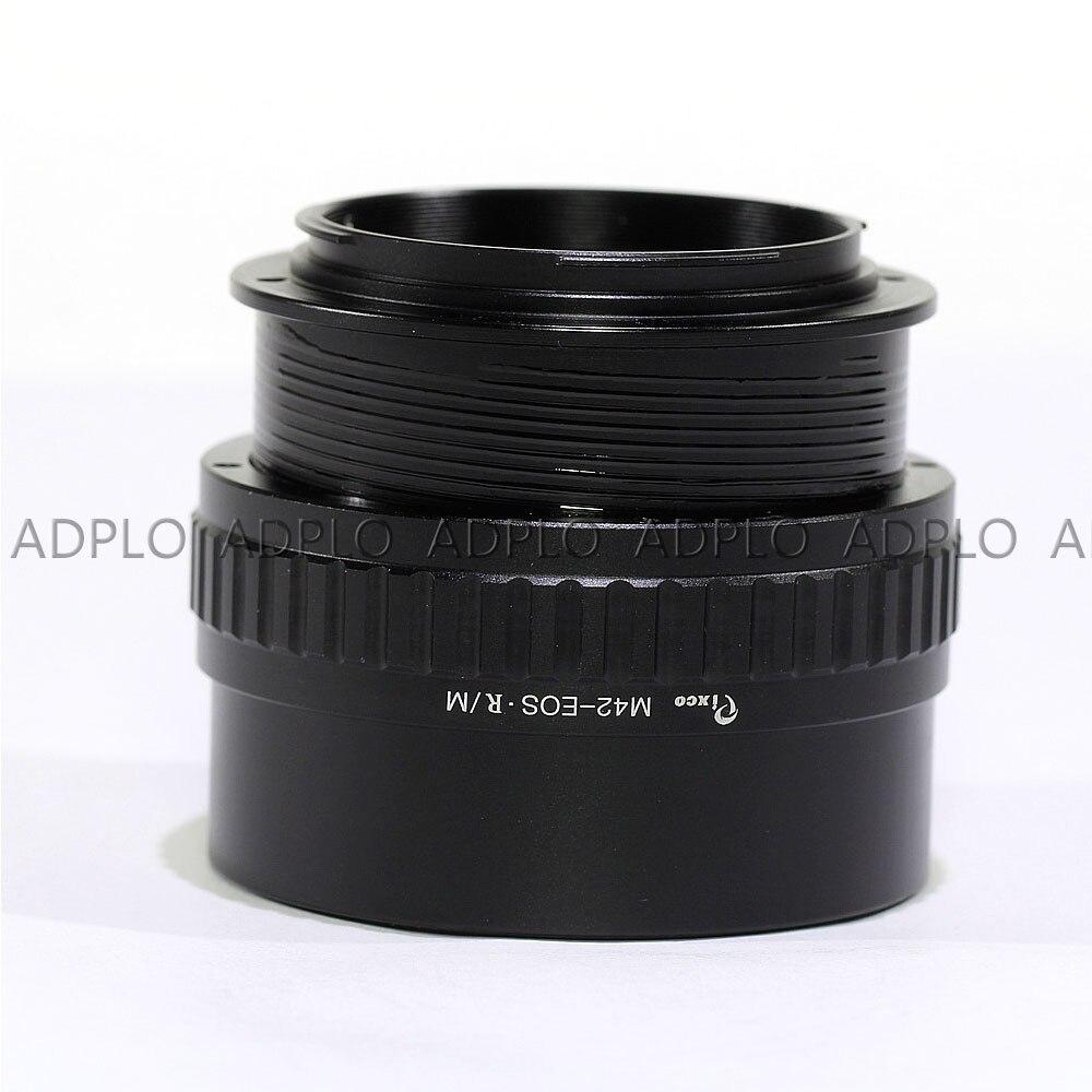 Pixco pour M42-EOS.R adaptateur objectif réglable Macro à l'infini pour caméra M42 à monture Canon EOS R - 4