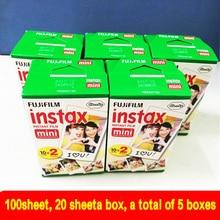100 blatt hochwertigen original fujifilm instax mini 8 film für 7 S 25 8 50 s 90 polaroid sofortbildkamera mini film weiß edage