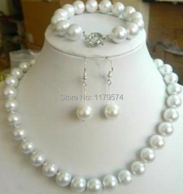 Sleva DIY ohromující 10 mm bílá skořápka Pearl korálky náhrdelník náramek náušnice šperky sada ženy tvorby AAA +++ About33pcs / prameny