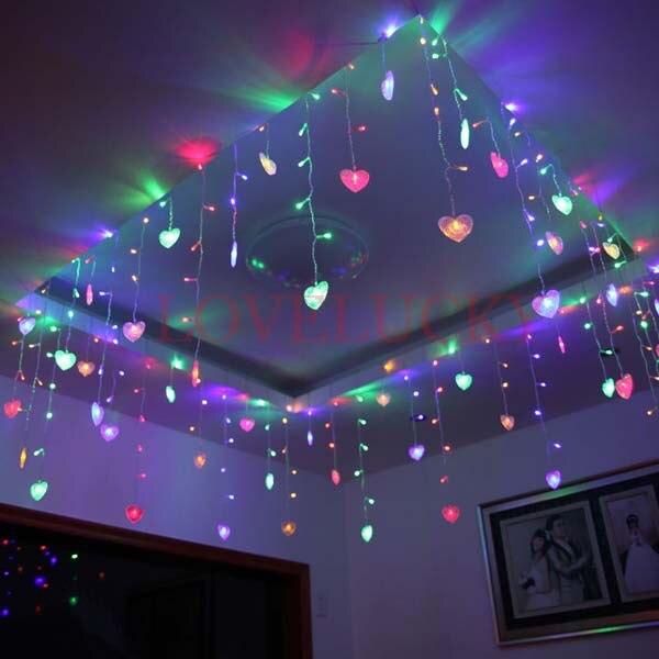 comprar secuencia de la tira led de vacaciones luces de navidad multicolor m smd corazones v v ueee uu