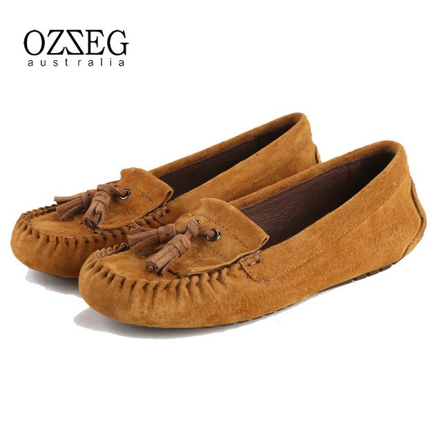 Women shoes flats Women casual moccasins loafers 100% Genuine leather Slip On, driving walking ballet, free shipping