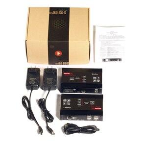 Image 5 - Mirabox HDMI KVM Extender 4K @ 30Hz מעל TCP IP תמיכה Gigabit PoE רשת מתג עד 383ft Cat6 כדי HDMI מקלט