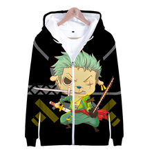LUCKYFRIDAYF 3D ONE PIECE JUMP COMICS print Fashion Zipper Hoodies Women Winter Print Long Sleeve Popular Clothes