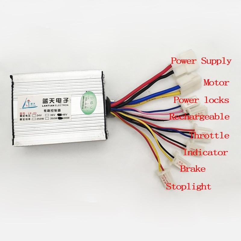 500 Watt 24 V36 V48 V DC Motor Gebürstet Controller Escooter Controller Ebike Pinsel Controller Elektrische Dreirad Zubehör