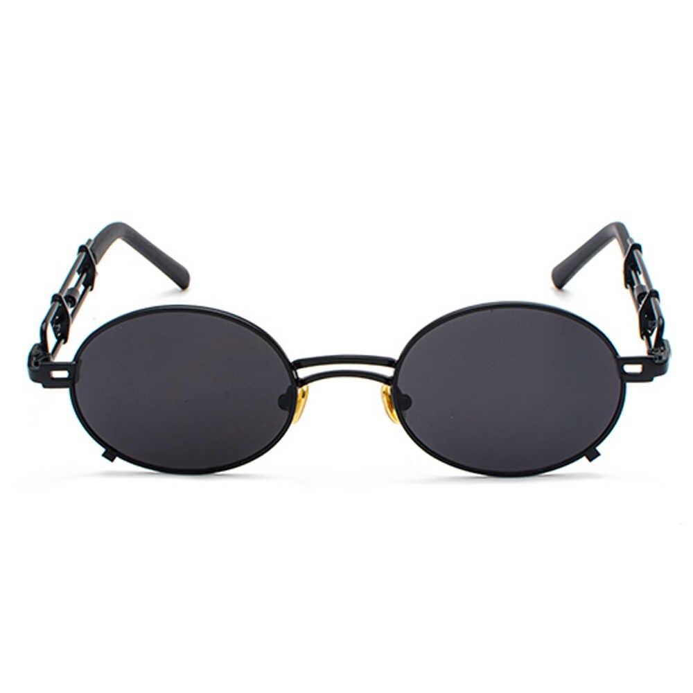 6b4982f814 ... Peekaboo retro steampunk sunglasses men round vintage 2019 metal frame  gold black oval sun glasses for ...