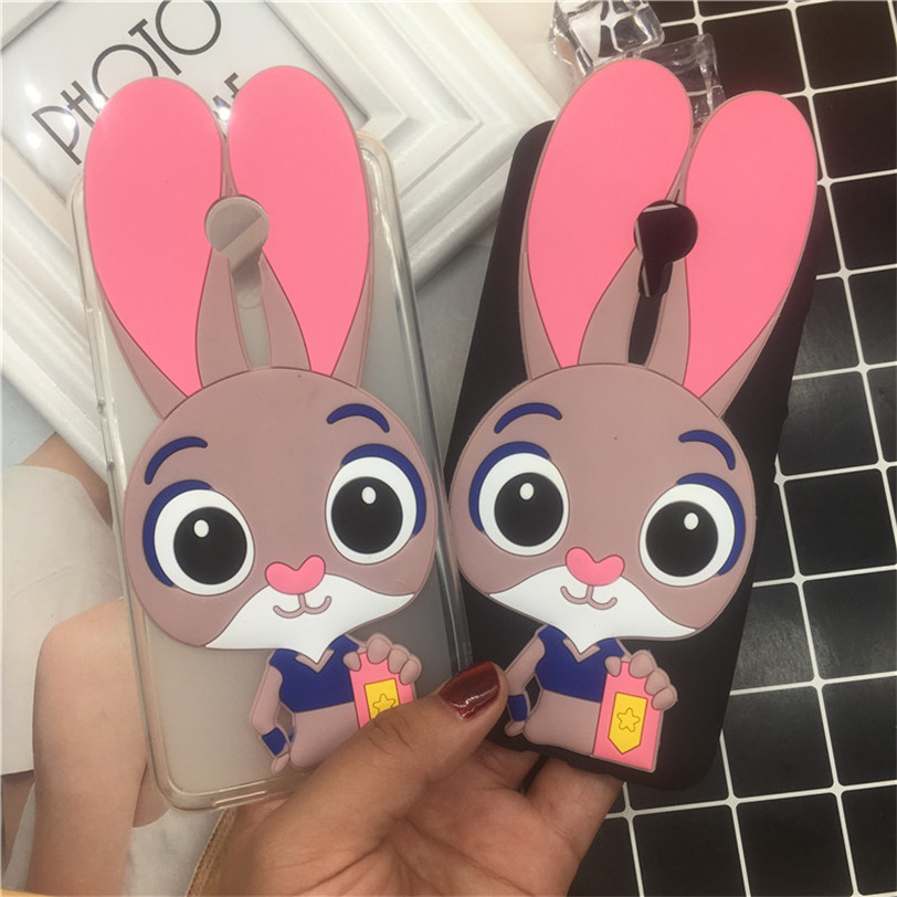 3D Cartoon Soft Silicone Gel Cover Fundas for <font><b>Alcatel</b></font> One Touch Pop 4 Plus 5.5 5056 <font><b>5056D</b></font> Phone Cases Protective Case image