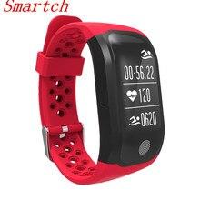 Smartch GPS Спорт Смарт сердечного ритма IP68 Водонепроницаемый S908 Bluetooth 4.2 мониторинг сна Шагомер умный Браслет для Android IO