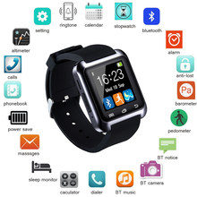 Smartwatch Bluetooth Smart Watch for iPhone IOS Android Smart Phone Wear Clock Wearable Device Smartwach PK U8 GT08 DZ09 A1(China)