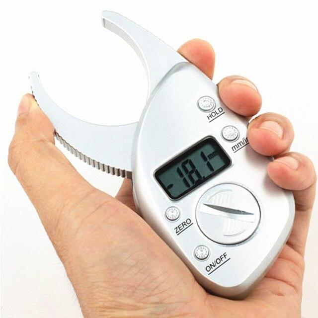 New Digital body fat caliper skinfold caliper LCD display Body Fat MASS Caliper Fold Analyzer Measurement Thickness caliper