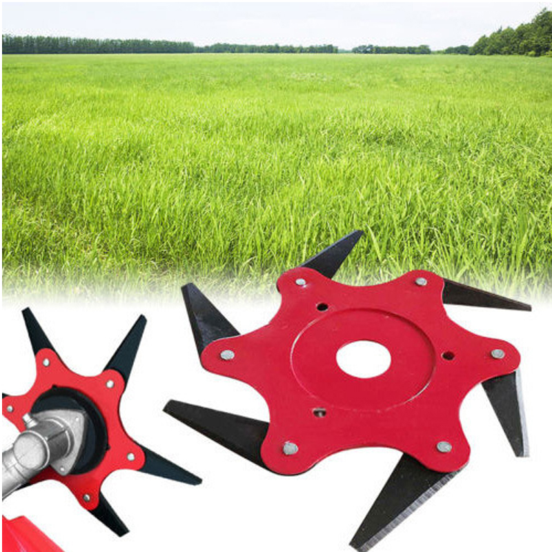 New Mower Accessories Lawn Lawn Mower Carbide Six leaf Brush Cutter Head Garden Weed Outdoor in Garden Carts from Home Garden