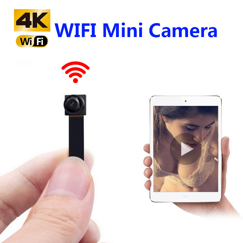 HD 4K DIY Portable WiFi IP Mini Camera P2P Wireless Micro Webcam Camcorder Video Recorder Support Remote View Hidden TF Card