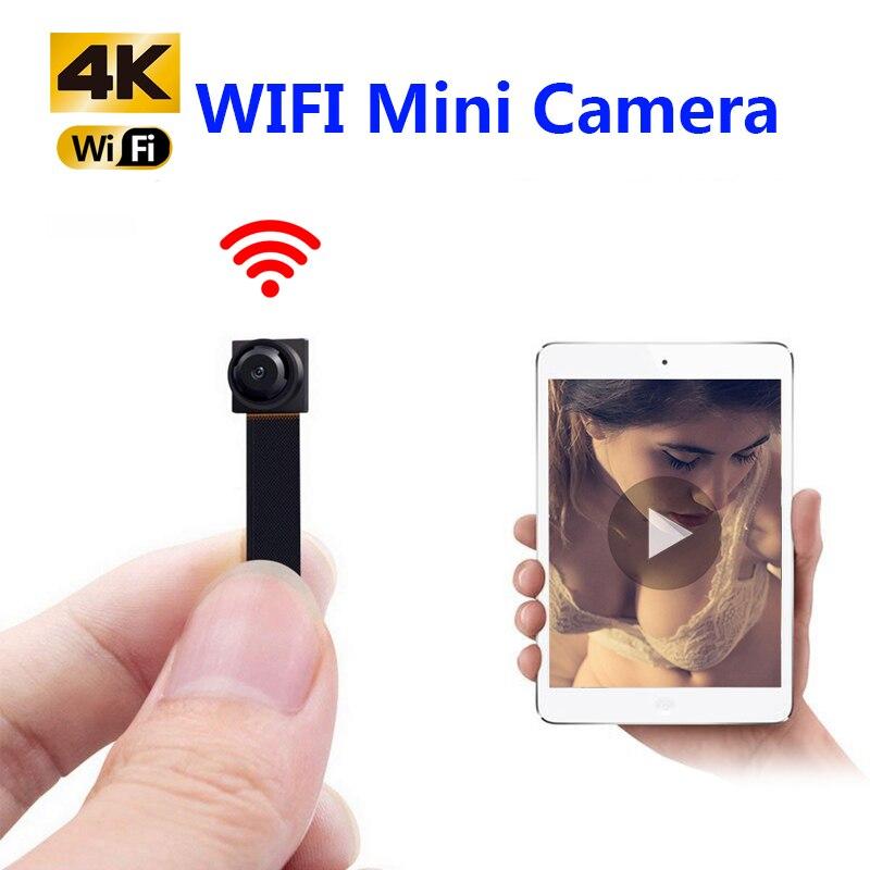 HD 4K DIY портативная WiFi IP мини камера P2P беспроводная микро веб камера видеокамера регистратор Поддержка удаленного просмотра Скрытая TF карта