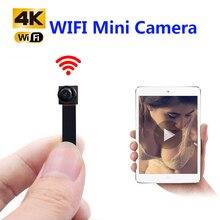 Hd 4k diy portátil wifi ip mini câmera p2p sem fio micro webcam filmadora gravador de vídeo suporte visão remota escondido cartão tf