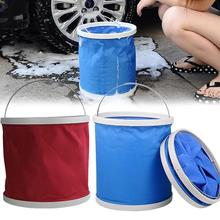 Hot Outdoor Fishing Camping Caravan Foldable Folding Collapsible Bucket Car Washing Barrel Storage Tank Auto Car Accessories