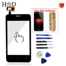 Pantalla Táctil frontal Lente de Cristal Para Huawei Y320 Y321 Y320U Y320T Y320C Touch Panel Digitalizador Herramientas Adhesivo Protector de Pantalla de Regalo