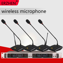 Wireless Microphone System 401GT Professional 4 Channel UHF Dynamic Conference Gooseneck Desktop