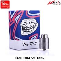 100% الأصل wotofo لل ترول rda v2 تانك 10 ملليمتر أعمق سطح عكس تعديل 510 دبوس السيجارة الإلكترونية