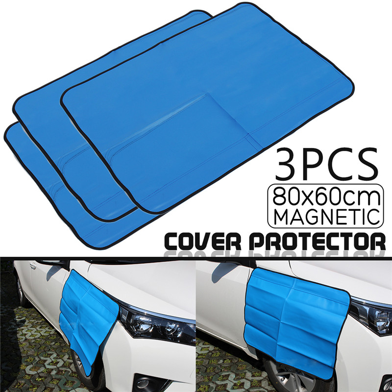 3pcs Blue Automobile engine Cover for Repair Magnetic Engine hood 80X60cm Wing for Fender Covers Tool for Truck стоимость