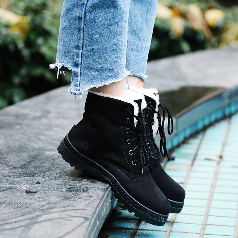 54d8982f25a9 Botas femininas women boots 2018 new arrival women winter boots warm snow  boots fashion platform shoes women ankle boots-in Ankle Boots from Shoes on  ...
