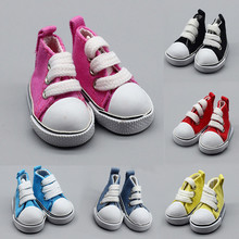 5cm Canvas Mini Toy Shoes for 1/6 BJD Doll Fashion Handmade Sneakers Shoes for Baby Doll Clothes Accessories tilda 5cm canvas toy shoes for bjd doll casual mini toy sneakers 1 6 bjd boots textile sneakers for handmade dolls accessories