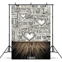 SHENGYONGBAO  Art Cloth Custom Photography Backdrops Prop Valentines day Theme Background 10885