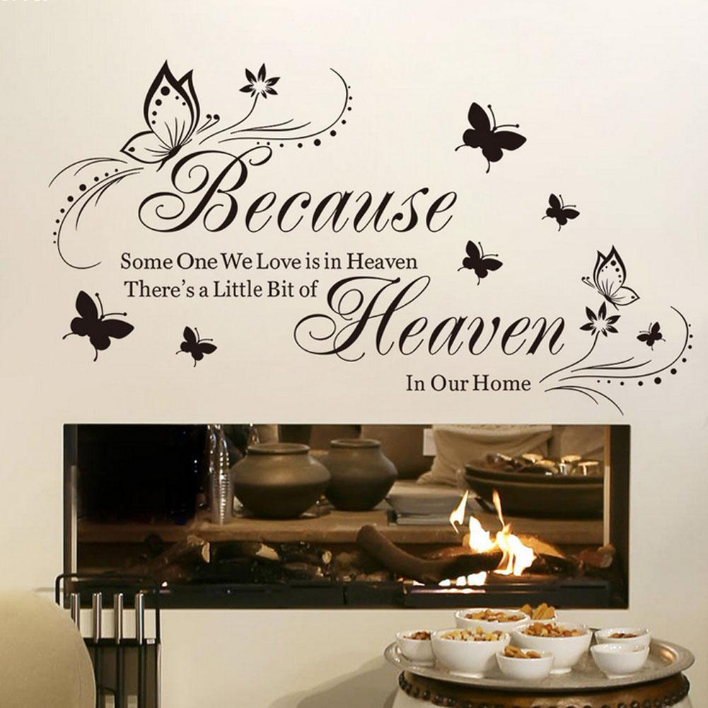 Woman silhouette decal removable wall sticker home decor art ebay - Vintage Home Living Room Wall Sticker Pretty English Letters Wallpaper Poster Stickers Cute Butterfly Waterproof Wall