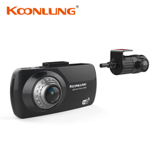 "KOONLUNG Dual Camera Car DVR A1 1080P Full HD Dual Lens 2.7"" LCD Screen / Wireless  Console / GPS / WIFI Original"