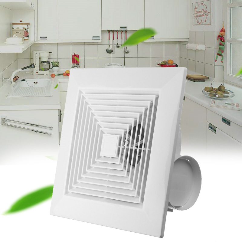 US $18.66 21% OFF|40W 8 Inch Exhaust Fan High Speed Low Noise Toilet  Kitchen Bathroom Window Ceiling Wall Glass Small Ventilator Extractor-in  Fans ...