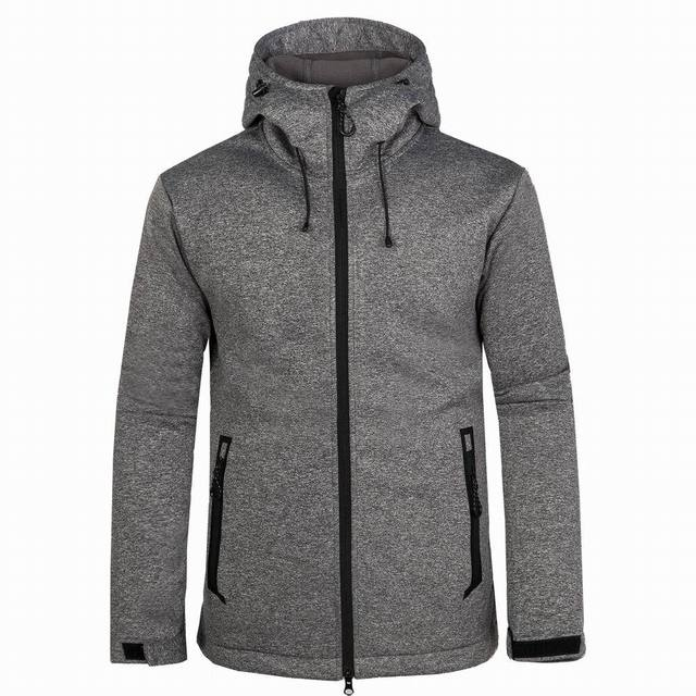 344a6d3f6a8eb Winter Jacket Men Softshell Thermal Hooded Hunting Clothes Outdoor Sports  Windproof Hiking Coat Camping Cycling Mens Jackets