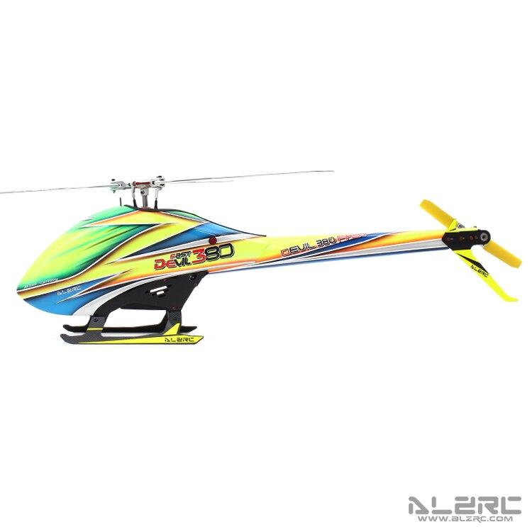 Alzrc дьявол 380 быстро tbr Супер вертолет комплект самолета RC электрический вертолет 380tbr Рамки комплект Мощность приводом вертолет Drone