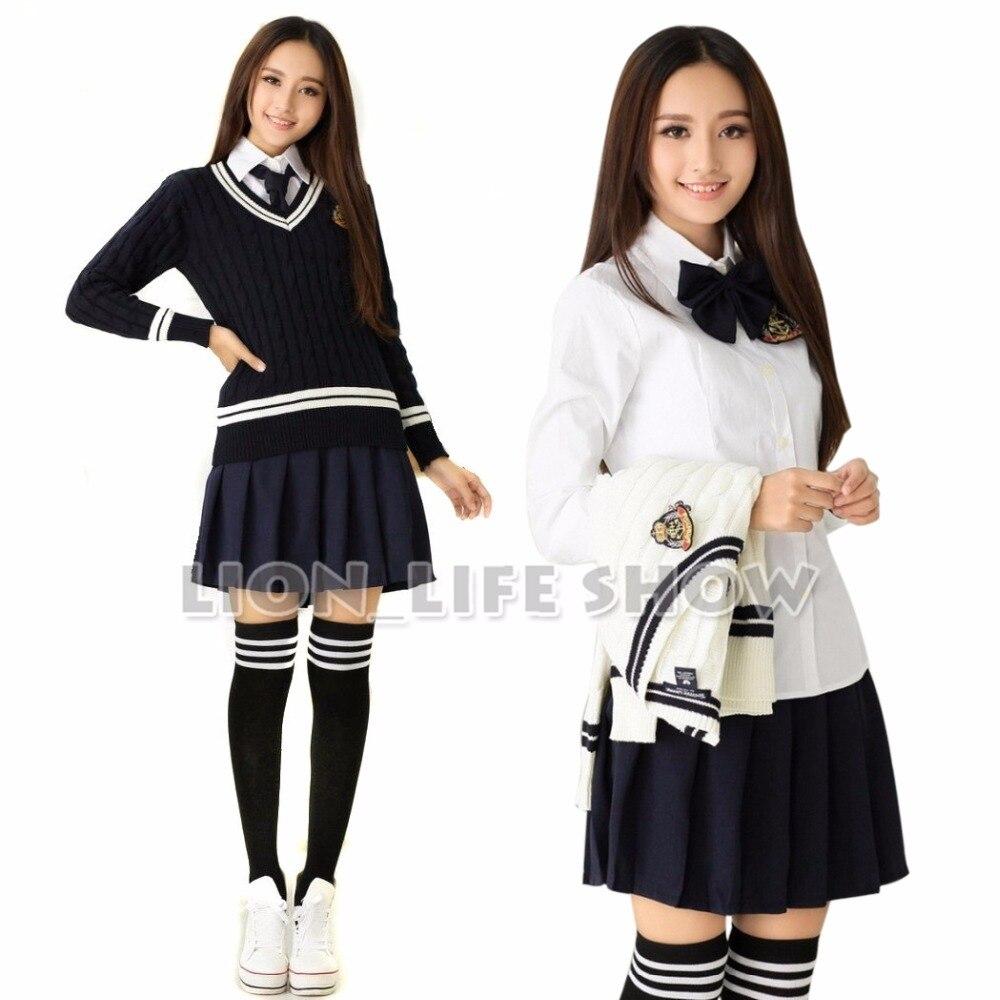 Japon diplômé Furyo Shojo JK marin école uniforme Cosplay Costume broderie