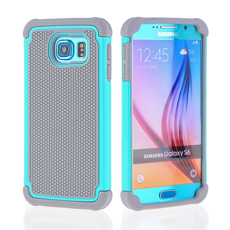 Rugged Cover Case for Samsung Galaxy S6 Case Soft TPU Silico
