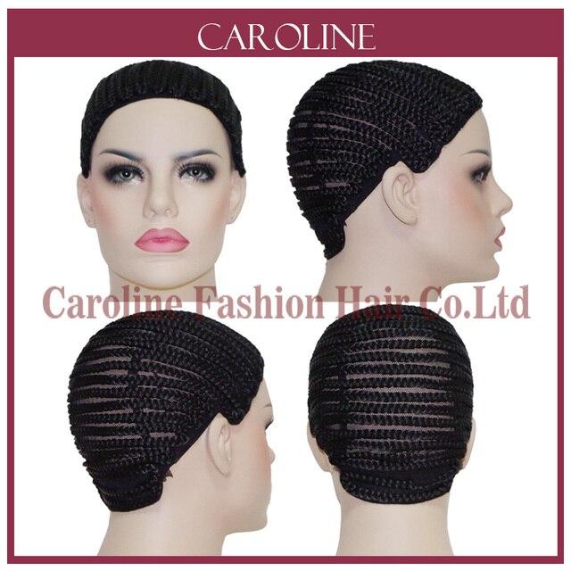 Cornrow парик Кепки S для изготовления Искусственные парики с регулируемым ремешком Плетеный Кепки для ткань парик Rosa для волос Для женщин Сетки для волос легко Кепки 6039
