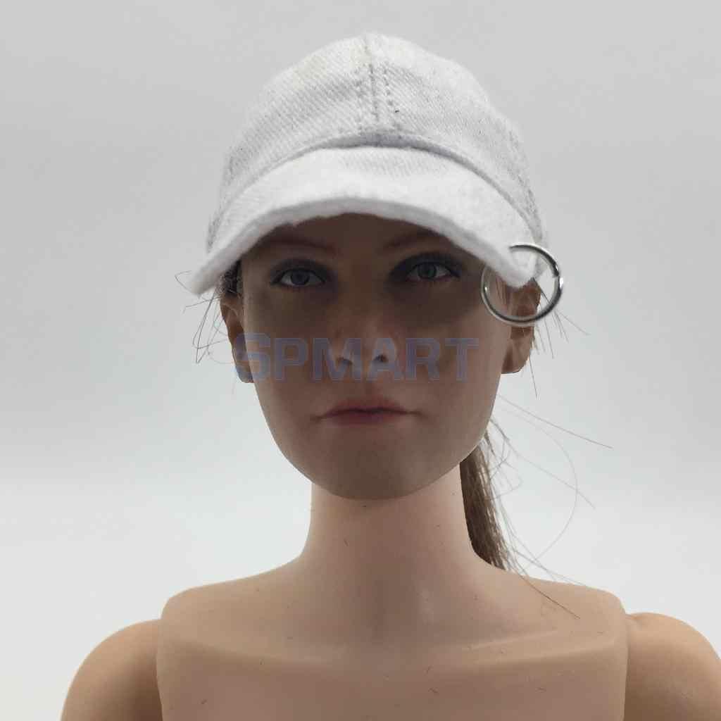 1/6 스케일 여성 야구 모자 여성 모자 12 인치 군인 뜨거운 장난감 Phicen Kumik 액션 인형 장난감 DIY 액세서리